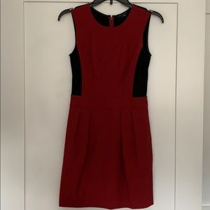 Theory Size 0 Darua Suiting Red/Black Dress